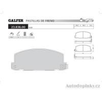 GALFER přední brzdové desky typ FDA 1045 ISUZU/OFF-ROAD TROOPER II 2.0 -- rok výroby 84-87 ( brzdový systém AKE )
