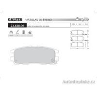 GALFER zadní brzdové desky typ FDA 1045 ISUZU/OFF-ROAD TROOPER V 3.0 TDI -- rok výroby 98- ( brzdový systém AKE )