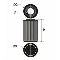 Sportovní filtr Green ISUZU CAMPO 3,1L TDS  výkon 80kW (109hp) typ motoru 4JG2T rok výroby 92-